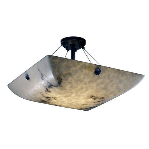 Justice Design Group Lighting FAL-9652-25-MBLK-F6-LED5-5000 LumenAria-Finials 27