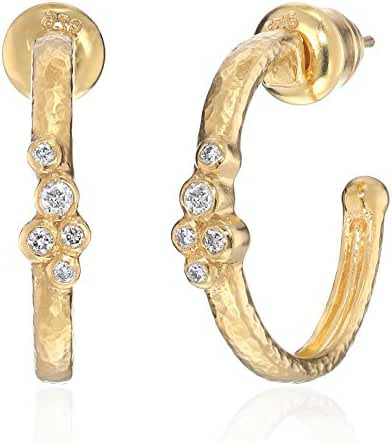 GURHAN Pointelle Diamond Gold Diamond Cluster Hoop Earrings