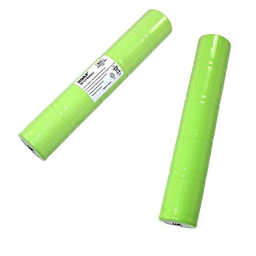 HQRP 2-Pack Battery for Sirchie Bluemaxx BM500LED BM500 BM520 BM525 Rechargeable Forensic Light with LED Bulb ESR4EE3060 6V 2500mAh BMK705 BMK705220 BMK755 BMK755220 Flashlight + HQRP Coaster by HQRP