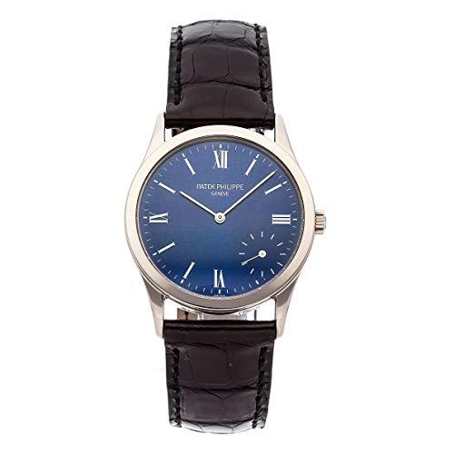 Patek Philippe Calatrava Mechanical (Automatic) Blue Dial Mens Watch 5026G-015 (Certified - Mechanical Calatrava Philippe Patek Watch