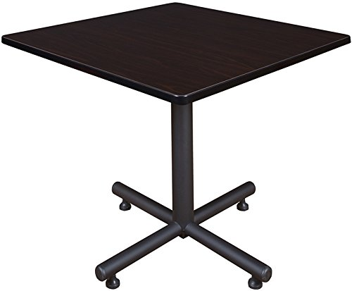 Square Breakroom Table, Mocha Walnut (36 Inch Lunchroom Table)