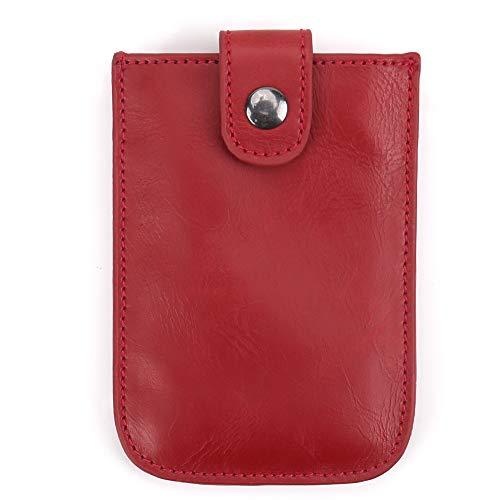RFID Pocket Wallet Minimalist Super Thin 5 Card Wallet - Credit Card Holder Front Pocket Wallet for Men Women (Red)