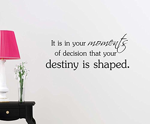 It is in your moments of decision that your destiny is shaped motivational sport football basketball inspirational family love vinyl saying wall art lettering sign room decor ()