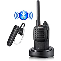 Nanfone Bluetooth Walkie Talkie with Bluetooth Earpiece NF-667 3-5 Miles Long Range Two Way Radio 5W for Car, Restaurants, Truck, Office, Hiking, Cruise