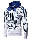 ZXFHZS Men's Active 3D Hoodie Print Pullover Drawstring Long Sleeve Sweatshirts