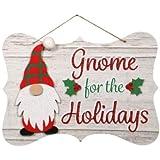 decor Gnome Elf Christmas Navidad Holiday House Printed Hanging Wall Sign, 8x11.75 in.