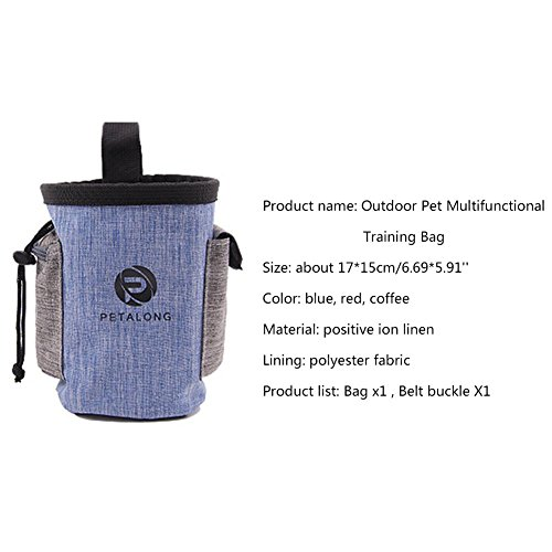 Suministros Blue iBaste Bolsa de de Entrenamiento portátil Mascotas Perro Libre al Aire de de IT Multifuncional Mascotas para para Comida Paquete Cintura Bolsa Bocadillo ggwErxRq