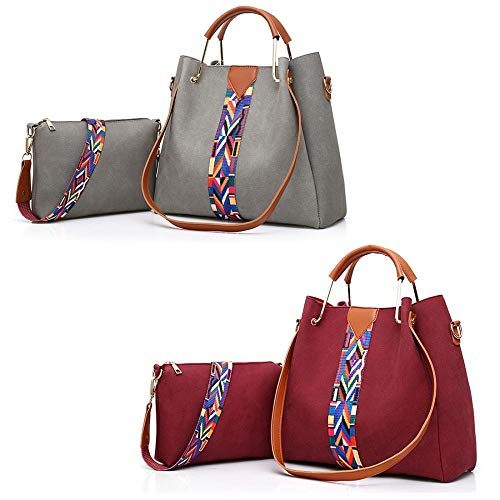 taglia Red Grigio Color Mangetal mano unica Wine a Borsa donna 0qB1O0