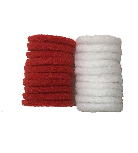 Spool Pin Felt 10 Red felt pads 10 white felt - Spool Pin Cushion