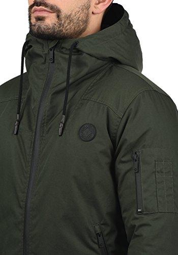 Tilden Sporty Black Chaqueta Para Entretiempo Capucha Hombre De 9000 Abrigo Solid Con qTpwdaq