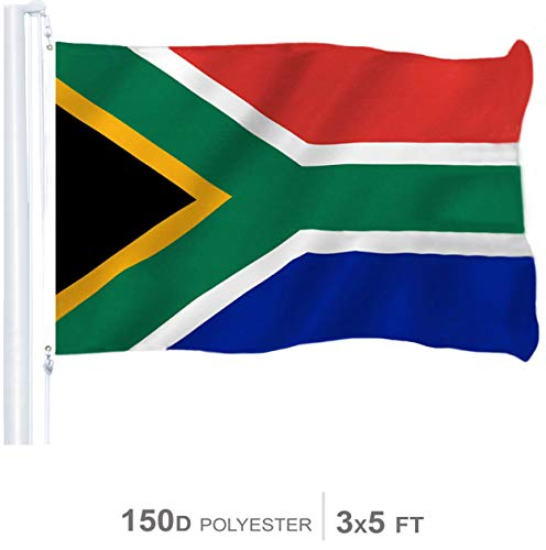 G128 - South Africa (South African) Flag | 3x5 feet | Printed 150D - Indoor/Outdoor, Vibrant Colors, Brass Grommets, Quality Polyester, US USA Flag, Much Thicker More Durable Than 100D 75D Polyester