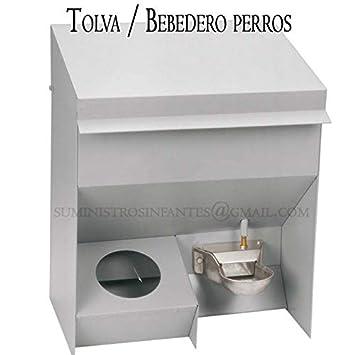 Suinga TOLVA COMEDERO y Bebedero Perros Chapa galvanizada. Medidas 46 x 33 x 57 h. Capacidad 20 litros.: Amazon.es: Productos para mascotas