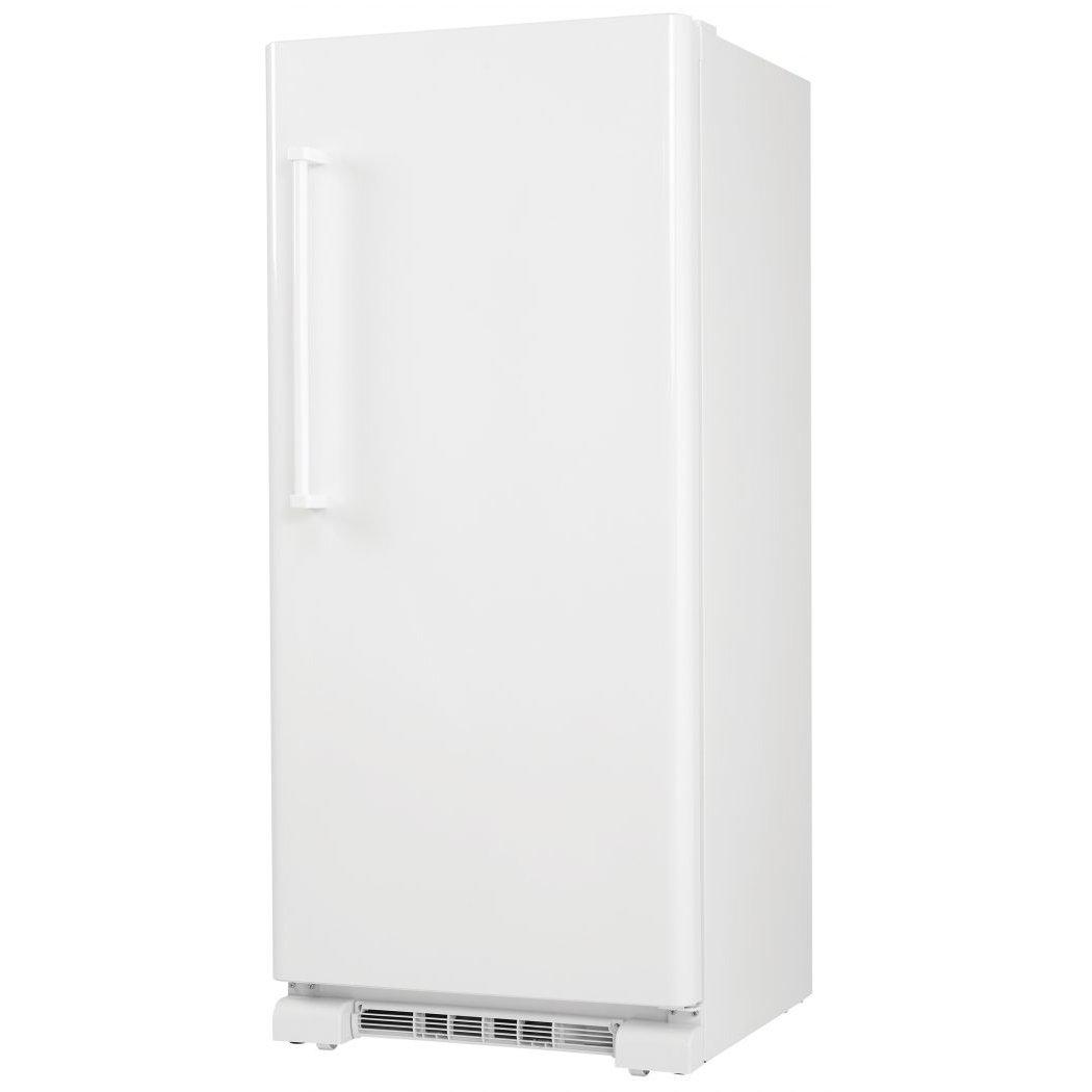 Danby DUF167A2WDD Freezer with 16.7 cu. ft. Reversible Door Interior Light Adjustable Wire Shelves Door Ajar Alarm High Temperature Alarm Quick Freeze Function Digital Thermostat in