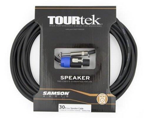 Samson Tourtek 30' Speaker Cable Black/Blue SATST30