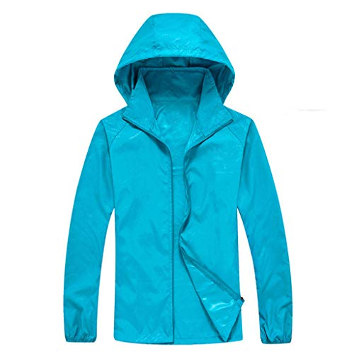 Men's Women Long-Sleeved Hooded Jersey Casual Jackets Windproof Ultra-Light Rainproof Windbreaker Sun Protection Top]()