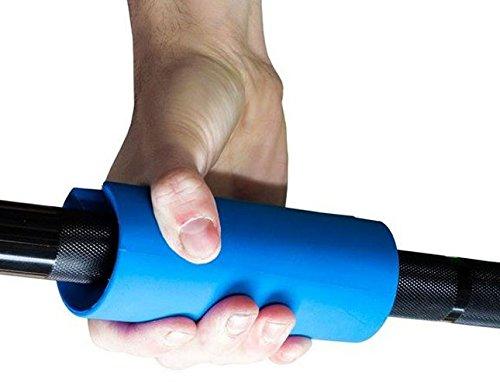Strengthshop 2er Set Fett Bar Hantelgriffe - Barbell Hantelstange Adapter - Griffkraft Unterarm Trainieren