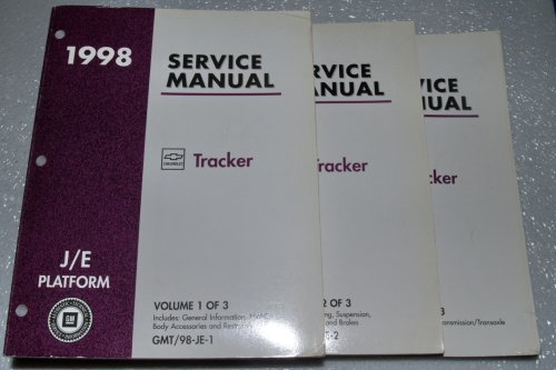 1998 GM J/E Platform Chevrolet Tracker Service Manuals (3 Volume Set)