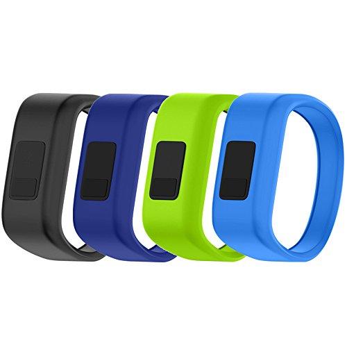 QGHXO Band for Garmin Vivofit Jr/Vivofit Jr. 2, Soft Silicone Replacement Watch Band Strap for Garmin Vivofit Jr/Vivofit Jr. 2 Activity Tracker, Small, Large (4PCS Bands-Boy, Small: 5.7)