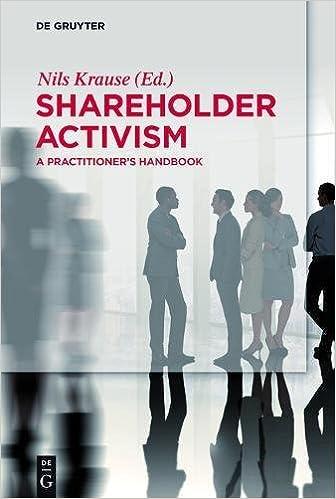 Buy Shareholder Activism: A Practitioner's Handbook (De