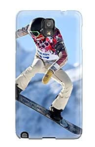 Note 3 Scratch-proof Protection Case Cover For Galaxy/ Hot Shaun White Snowboarding Phone Case