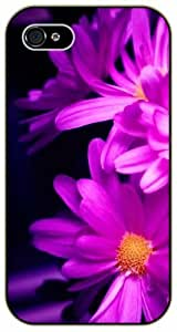 Purple flowers - iPhone 5 / 5s black plastic case / Flowers and Nature, floral, flower