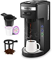 Coffee Maker,Thimblety Coffee Machine,Single Serve Coffee Brewer for K-Cup Pods, Compact 4 in 1(K-Cup...