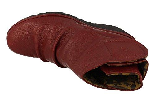 FLY London Yomi765fly, Botas para Mujer Rojo (Cordoba Red)