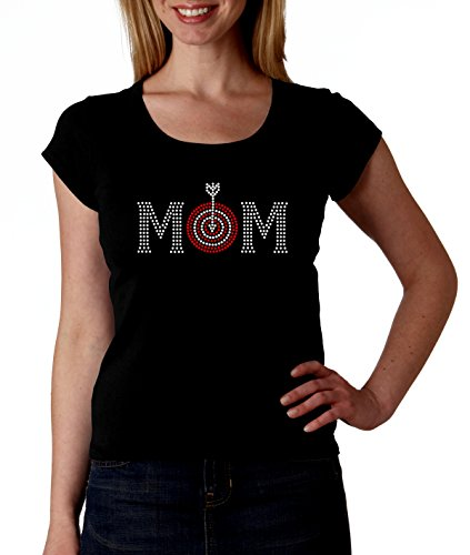 Archery Mom RHINESTONE T-Shirt Shirt Tee Bling - Mother Mom Ma Sport Sports Bow Arrow Target Mama - Target Ma