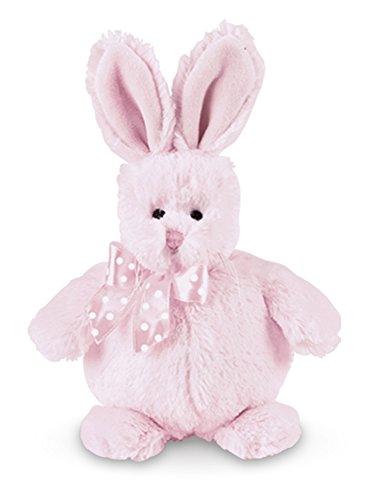 Bearington Baby Cottonball Plush Stuffed Animal Pink Bunny Rabbit, 6 inches