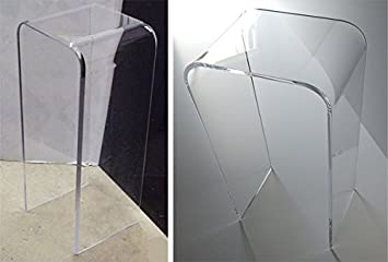 Great 1/2u0026quot; Clear Acrylic PEDESTAL END TABLE 29u0026quot; ...