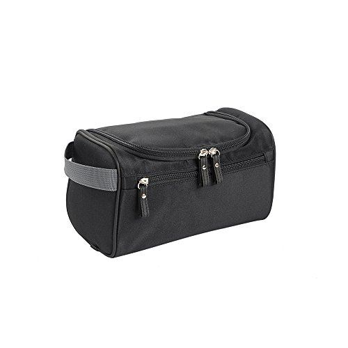 X-Freedom Portable Hanging Toiletry Bag Travel Organizer Cosmetic Bag For Women & Men Kit with Hanging Hook For Vacation Travelling (Black)
