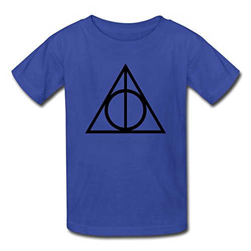 AOPO Harry Potter Deathly Hallows Sign Tee Shirts For Kids Unisex Medium RoyalBlue