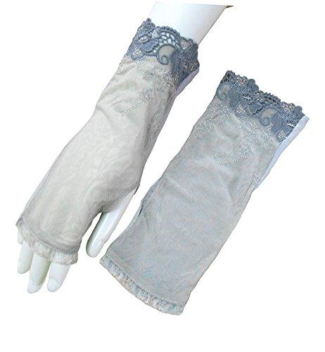 Sun UV Protection Gloves for Women Driving Glove Sun block Fingerless Thumb Hole