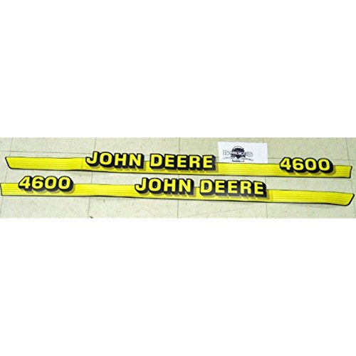 John Deere 4600 hood decals set fits 4600 compact tractor M135384 M135385 (Decal Hood Set)