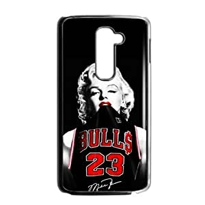 Fashion Funny NBA Chicago Bulls Michael Jordan LG G2 (Fit for AT&T) Case Cover Marilyn Monroe NIKE JUST DO IT
