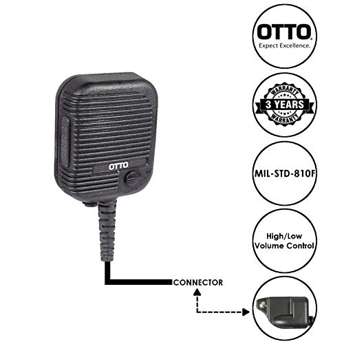 (OTTO Evolution Speaker Microphone for Harris XG75 XG25 and P7300 Series Two Way Radios)
