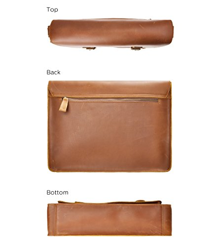 Handgefertigte Laptoptasche/Aktentasche/Briefträgertasche für Herren aus Rindsleder zum Ablage von 15 Zoll Macbook