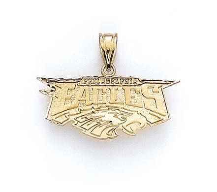 Avec image imprimée Eagles de Philadelphie 14 Carats Pendentif JewelryWeb