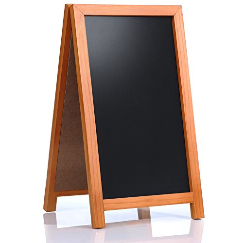 "Cedar Markers 42""x24"" A-Frame Wooden Chalkboard. Fantastic Blackboard for Restaurants, Bars and Shops. Robust Indoor and Outdoor Sign Idle for Chalk Markers."