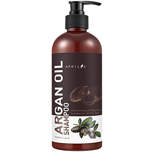 Aprilis Organic Moroccan Argan Oil Shampoo, Nourishing, Moisturizing & Volumizing Shampoo with Keratin for Women and Men, for Colored and All Hair Types, 16 fl. (Daily Nourishing Shampoo)