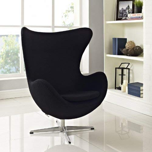 Amazon.com: Silla de Arne Jacobsen Huevo, color negro: Home ...