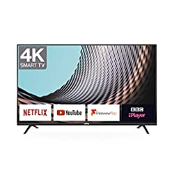 TCL 50DP628 50-Inch 4K LED Ultra HD Smart TV – HDR10/Freeview Play/BBC iPlayer/Netflix 4K/YouTube 4K, Work with Alexa…
