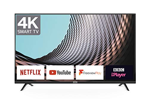 TCL DP628 65-Inch 4K LED Ultra HD Smart TV – HDR10/Freeview Play/BBC iPlayer/Netflix 4K /YouTube 4K, Work with Alexa, Wi…