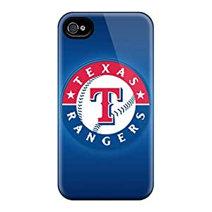 Anti-Scratch Hard Phone Cover For Iphone 4/4s With Customized Vivid Texas Rangers Pattern JonathanMaedel