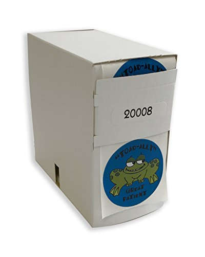 Tabbies Childrens Sticker 1 3 4  Circle  Toad Ally Great Blue With A Frog  100 Stickers Roll  Healthcare  20008