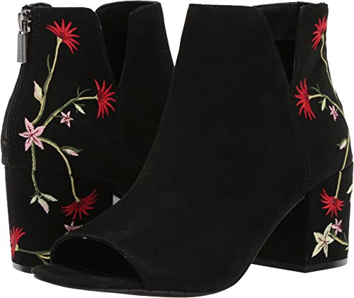 (Kenneth Cole REACTION Women's Ride Floral Peep Toe Embroidered Bootie Ankle Boot, Black, 9.5 M US)