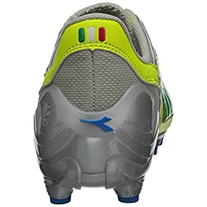 Diadora Women's Maracana L Soccer Cleat Shoes, Yellow Flou/Lime/Royal, 8 M US