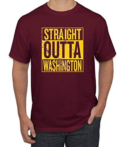 (Wild Bobby Straight Outta Washington was Fan | Fantasy Football | Mens Sports Graphic T-Shirt, Maroon, Large)