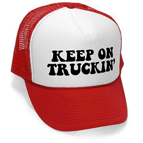 736211ba5be4e Keep On Truckin  - Retro Vintage Style Trucker Hat