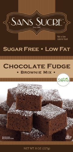 Sans Sucre Chocolate Fudge Brownie Mix (sweetened with Stevia)